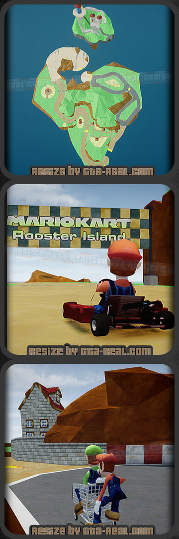 Mario Kart Rooster Island