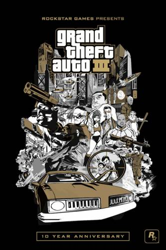 Плакат GTA 3: 10th Anniversary Edition