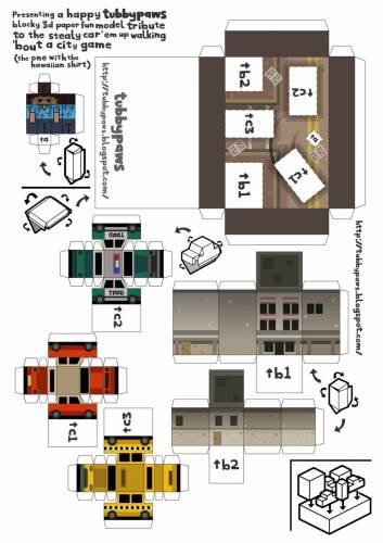 схемы игр из бумаги