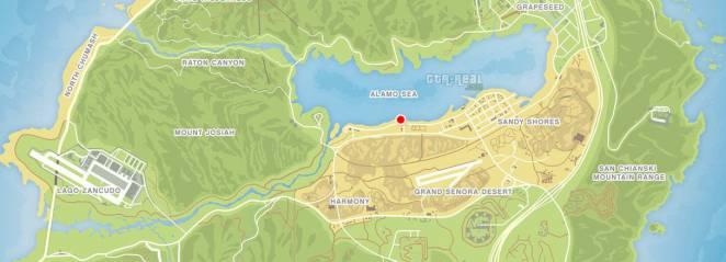 Карта первой бойни в GTA 5